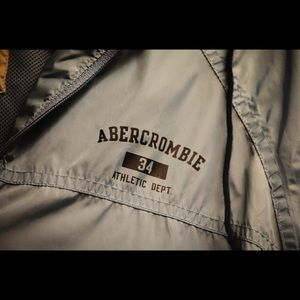 Light blue Abercrombie and Fitch windbreaker